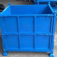 重型堆垛铁箱铁框金属周转箱物料箱废料箱工业用铁箱