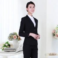 长沙夏季职业套装两粒扣女装定制