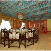 中式酒店大堂吊顶艺术吊顶厂家直销防火防潮