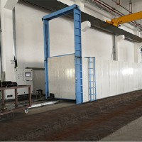 PLC联网地轨烘箱 通道式烘箱 玻璃钢格栅固化烘箱